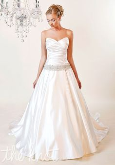Gown features Swarovski beaded belt  #wedding #dress