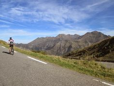 Cycling to Station Luz Ardiden - 1715m - Tour de France summit finish.