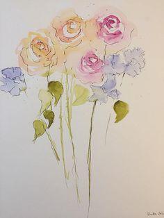 Orgiginal Aquarell , Handgemalt . Maße: 30 x 40 cm Aquarell, Tusche auf 300g/qm Papier verwendet werden ausschliesslich Künstlerfarben . Das Werk ist von der Künstlerin auf der Vorderseite signiert. Lieferung erfolgt ohne Rahmen. Bitte beachten Sie das es durch die digitale