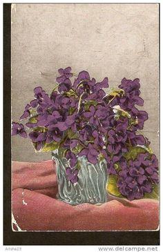 5k. Flora - Flowers - Viola Violet pansy - passed FeldPost in 1918 - Intanterie ? Regiment nr.351