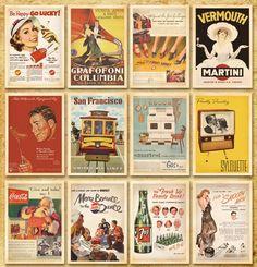 Tarjetas de Felicitación, regalo, postales, postcard, poster, navidad. Diseño clásico famoso de Posters estilo Vintage No. 3