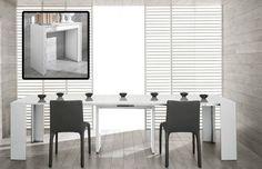 Modrest Morph Modern Ultra Compact Extendable White Dining Table VGGU837XT-WHT