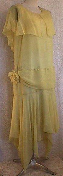 1920's Silk Chiffon
