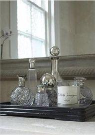 Love the antique perfume bottles