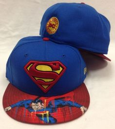New Era 59Fifty Superman Viza Sick Blue and Red Fitted Cap