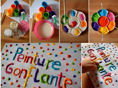 - - Garden Crafts To Sell Creative - Arts And Crafts Letters Kids Crafts, Projects For Kids, Diy For Kids, Easy Crafts, Art Projects, Diy And Crafts, Arts And Crafts, Puffy Paint, Micro Onde