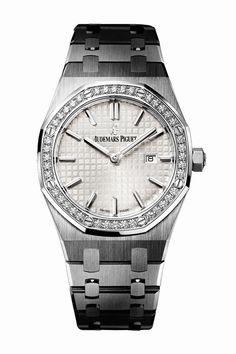 Audemars Piguet Ladies Royal Oak Collection Quartz 67651ST.ZZ.1261ST.01 Stainless Steel Watch   World's Best