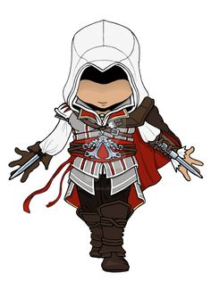 """Ezio Auditore Chibi: Assassins Creed 2"" by dark-lil-soul on DeviantArt.com."