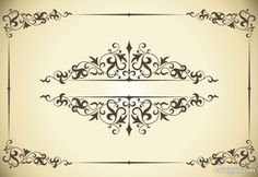 Classic pattern border 04   vector material