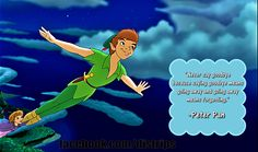 """""""Never say goodbye because goodbye means going away and going away means forgetting."""" - Peter Pan #EZDisney"""