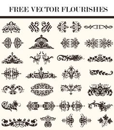 Vector illustration of decorative border and frame set free free vector flourishes stopboris Image collections