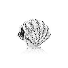 A beautiful new shell charm! PANDORA | Disney Ariel shell silver charm with cubic zirconia