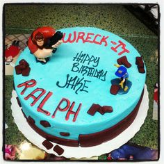 Maddox Ryan Smash cake Idea! :) Wreck it Ralph cake