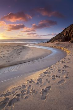 Porthcurno, a small village in the parish of St. Levan located in a valley on the south coast of the county of Cornwall, England, UK..