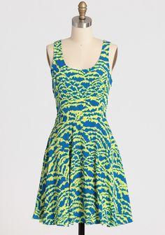 Sunburst Printed Dress | Modern Vintage Dresses