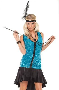 Sexy 20s Charleston Harlem Flapper Dress Fancy Dress Costume | eBay