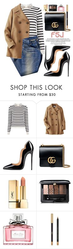 """FSJ Shoes"" by oshint ❤ liked on Polyvore featuring Oasis, Uniqlo, Gucci, Guerlain, Christian Dior, Yves Saint Laurent, shoes and fsjshoes"