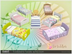 The Sims Resource: Toddlers beds addition pack by Severinka • Sims 4 Downloads