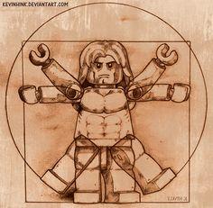 Da Vinci's Vitruvian Man LEGO.