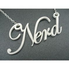 Laser cut necklace by Morphologica: Say it like it is