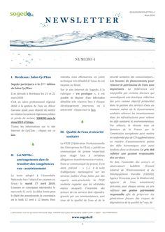 Sogedo Newsletter n°4