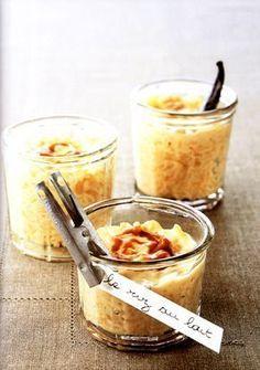 Le riz au lait comme on l'aime au caramel et beurre salé, très jolie présentation !!