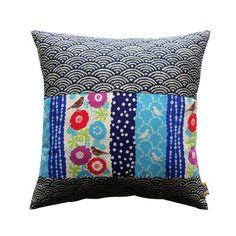 eu.Fab.com | Hokkaido Pillow I like the juxposition of fabrics.