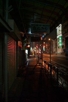 Dark arcade by sandman_kk, via Flickr Night Bus, Arcade, Street, Dark, Lonely, Landscapes, Photography, Photos, Paisajes