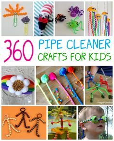Kids love to create pipe cleaner crafts, and we've collected over 360 ideas to keep the kids busy for hours. Craft Activities For Kids, Preschool Crafts, Projects For Kids, Diy For Kids, Crafts For Kids, Craft Projects, Kids Fun, Craft Ideas, Children Crafts