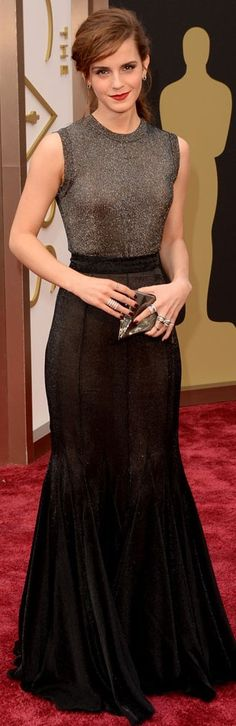 Emma Watson at the 2014 Academy Awards Wearing Vera Wang | The House of Beccaria