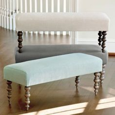 pretty bench for entryway or extra seating in living room...and ON SALE!  Simone Bench