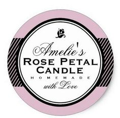 1.5inch PINK PERSONALIZED SOAP & CANDLE STICKER #Affiliate