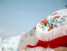 The Salty Merchant beach umbrellas