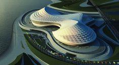Zaha Architecture | Zaha Hadid Architects, design for People's Conference Hall, Tripoli.