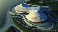 Zaha Architecture | Zaha Hadid Architects, design for People's Conference Hall, Tripoli.
