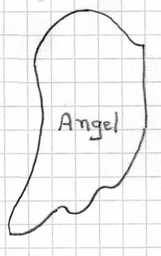 Pattern for angel wings