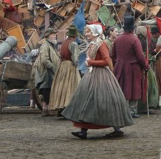 Les Mis (2012) | Extras on location for filming of Les Misérables, Old Royal Naval College, Greenwich, London.