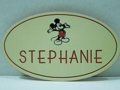 Vintage Disney World NametagFREE by Moonlightdecorator on Etsy, $30.00