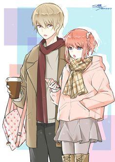 Manga Couple Sougo Okita x Kagura [OkiKagu], Gintama - Manga Couple, Anime Love Couple, Cute Anime Couples, Manga Anime, Anime Guys, Cute Chibi Couple, Citrus Manga, Okikagu, Anime Art Girl
