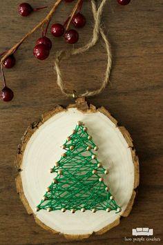 Christmas Tree String Art Ornaments