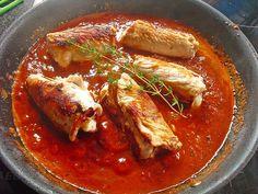 Mediterrane Putenrouladen, ein leckeres Rezept mit Bild aus der Kategorie Geflügel. 119 Bewertungen: Ø 4,4. Tags: Braten, fettarm, Geflügel, Hauptspeise