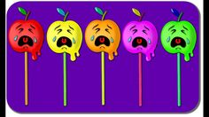 Crying Apple Finger Family Collection Lollipop Nursery Rhyme Daddy Finger