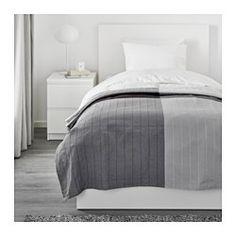 IKEA - ÄNGSTÖREL, Colcha, 150x250 cm, , El hilo teñido que se utiliza para tejer la colcha crea un bonito efecto cromático.Unos gruesos hilos se entretejen en el tejido de algodón creando un bonito motivo en relieve.