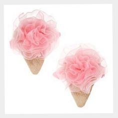Gymboree-Pink-Ice-Cream-Cone-S-2-2-Hair-Clips-4-5-6-7-8