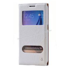 Samsung Galaxy S6 Çift Pencereli Mıknatıslı Kılıf Beyaz -  - Price : TL32.90. Buy now at http://www.teleplus.com.tr/index.php/samsung-galaxy-s6-cift-pencereli-miknatisli-kilif-beyaz.html