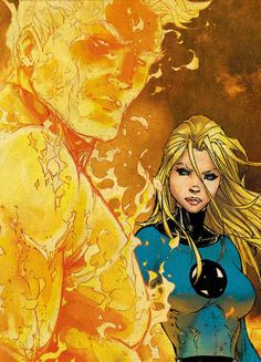 The Human Torch and the Invisible Woman