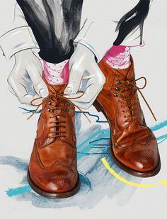 Illustration, Design & Art Direction by Andrew Archer of Melbourne, Australia. Magazine Illustration, Art And Illustration, Shoe Art, Fashion Sketches, Shoe Sketches, Art Inspo, Art Direction, Bunt, Fashion Art