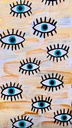 eyes pattern on canvas Homescreen Wallpaper, Iphone Background Wallpaper, Aesthetic Iphone Wallpaper, Gif Background, Background Vintage, Hippie Background, Cute Patterns Wallpaper, Retro Wallpaper, Blog Wallpaper