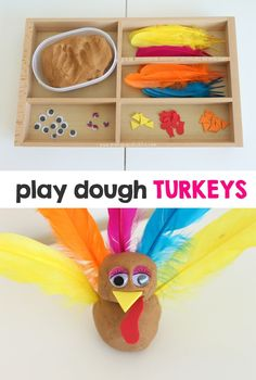 Play Dough Turkeys | Mama.Papa.Bubba.