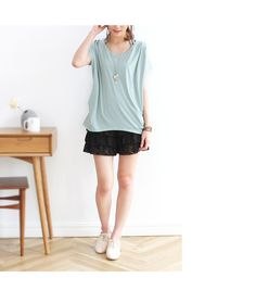 Rakuten: Design finish / tuck design wide cut-and-sew *4,855* [immediate delivery / reservation] which I go to resale SPECIALPRICE from 10:00 on June 21, and it is natural, and draws rough direction / adultness in detail- Shopping Japanese products from Japan